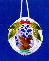 Crochet Memories, Free Christmas Bulb Ornament Pattern