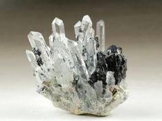 Clear Quartz Crystal With Sphalerite Clear Quartz Crystals
