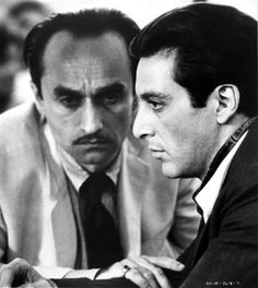 Michael & Fredo in The Godfather: Part 2 Best film ever - always makes us smile. :)