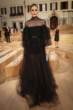 Olivia Palermo at Valentino show during Paris Couture Week 2015 on July 2015 Estilo Olivia Palermo, Olivia Palermo Lookbook, Olivia Palermo Style, Valentino Couture, 15 Dresses, Nice Dresses, Paris Couture, Couture Week, Street Style