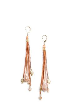 MANGO - TOUCH - Colored chains earrings