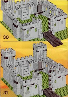 Thousands of complete step-by-step printable older LEGO® instructions for free. Here you can find step by step instructions for most LEGO® sets. Lego Plan, Lego Castle Instructions, Legos, Lego Burg, Lego Structures, Classic Lego, Lego Kits, Lego Craft, Lego Room