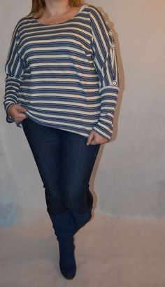 wkratkę czy na okragło paski moga byc :) Blond, Skinny Jeans, Tops, Women, Fashion, Moda, Women's, La Mode, Shell Tops