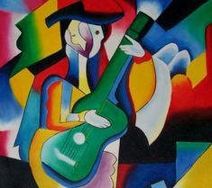 Pablo Picasso - play the guitar