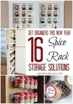 Spice Rack Storage Solutions by Sand & Sisal Spice Rack Storage, Diy Spice Rack, Diy Kitchen, Kitchen Storage, Rack Solutions, Craft Organization, Organizing Your Home, Home Decor Inspiration, Getting Organized