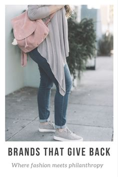 Ashley from Two Peas in a Prada wears Toms sneakers and backpack. #ad