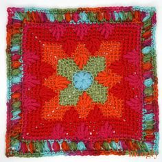 Moogly CAL 2018 Block 15 is going to explode off your hook - or maybe bloom? It's all in your color choices with this gorgeous free crochet afghan block by Briana K Designs! Crochet Motif Patterns, Crochet Blocks, Granny Square Crochet Pattern, Afghan Crochet Patterns, Crochet Squares, Stitch Patterns, Granny Squares, Crochet Granny, Crochet Afghans