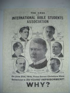 Originally just a group of sincere people who came together to study the Bible, the Witnesses were then called International Bible Students Association. In 1931 they took the name Jehovah's Witnesses.