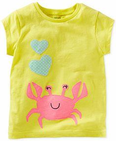 Carter's Baby Girls' Crab Tee