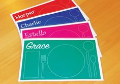 Educational Children's Placemat by SweetestPeaDesigner on Etsy https://www.etsy.com/listing/250149289/educational-childrens-placemat