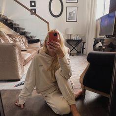 Comfy autumn #loungesuit #tracksuit #cottonsuit Beige Suits, Cotton Suit, First Love, Khaki Pants, Lounge, Comfy, Autumn, Studio, Model
