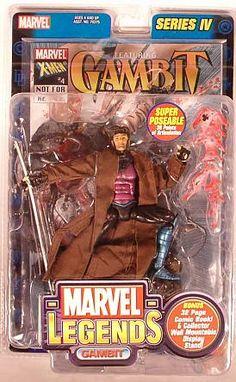 Amazon.com : Marvel Legends Series 4 Action Figure Gambit : Collectible Action Figures : Toys & Games