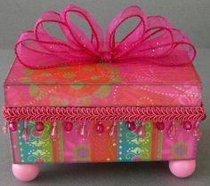 Pink Fiesta Decorative Box by funkyart08 on Etsy, $45.00