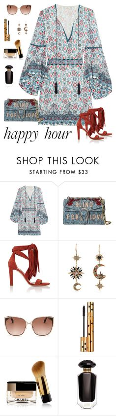 """""""Wonder Woman"""" by staggemeier-amaral ❤ liked on Polyvore featuring Talitha, Gucci, Chloé, Roberto Cavalli, Jimmy Choo, Yves Saint Laurent, Chanel, Victoria's Secret and happyhour"""