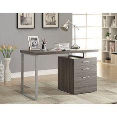 Coaster 800520 Home Furnishings Desk, Weathered Grey