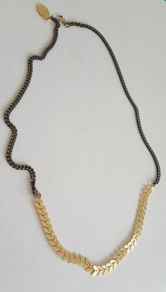 Black And Gold Necklace Chevron necklace V necklace