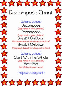 Kinder Kraziness: Decomposing in Kindergarten