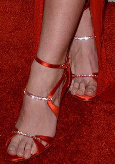 Lily Adridge wears custom-made heels from Alexandre Vauthier