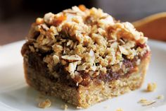 Orange Date Squares—Morning, midday or afternoon, these squares are satisfying and delicious. Morning, midday or afternoon, these squares are satisfying and delicious. Canadian Living Recipes, Canadian Food, Canadian Dishes, Baking Recipes, Cookie Recipes, Dessert Recipes, Bar Recipes, Dessert Ideas, Raw Desserts