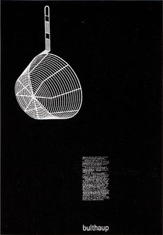 aicher Bulthaup / Ustensils / Poster / 1979