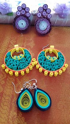 Quilled earrings | Flickr - Photo Sharing!