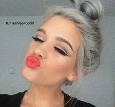 isi #lips#pink#rosa#lipstick#onfleek#nice#fresh#makeup#hair#Teenieewoorld by teenieewoorld