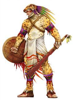 Warriors in art: Guerreiro Jaguar by Gleydson A. Guerrero Tribal, Aztec Society, Dark Sun, Character Art, Character Design, Ancient Aztecs, Aztec Culture, Tribal Warrior, Inka