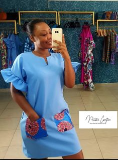 Chic, Ankara, African Fashion, Flare, Gowns, Closet, Top, Places, Womens Fashion