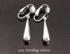 f0a183c4c Clip On Earrings: Gorgeous 925 Sterling Silver Clip On Earrings - found at  https: