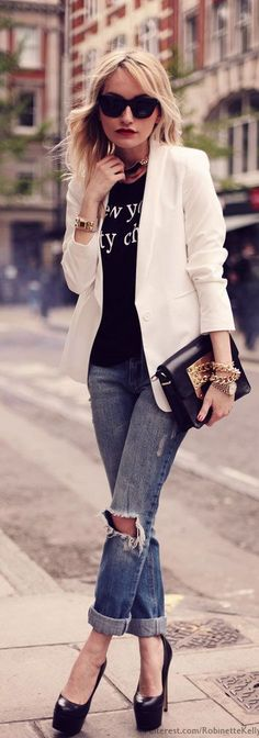 I want a nice white blazer