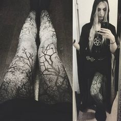 valentin_winterI got this fabulous @restyle.pl leggins for christmas *_* Demoness Duster and Necklace by @killstarco♡
