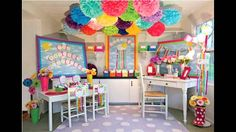 Not so creative on decorating the classroom? Watch this video to get some ideas!