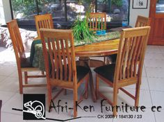 """AFRI-KEN FURNITURE  www.facebook.com/AfriKenFurniture  We specialise in custom made furniture to suit our clients style and need. We use the old traditional """"Mortise & Tenon"""" together with handmade """"dovetail joints"""" in the manufacturing of our chairs, cabinets and other furniture"""
