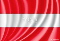Vector: waving flag of austria