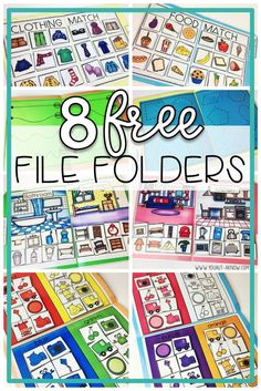 File Folder Freebies Are you ready to kick off work tasks in your special education classroom? There's no better way to get started than with 8 FREE file folder tasks. These are great tasks for use in any Autism classroom. Autism Classroom, Special Education Classroom, Kindergarten Classroom, Special Education Activities, Autism Education, Life Skills Classroom, Education Conferences, Classroom Freebies, Baby Education