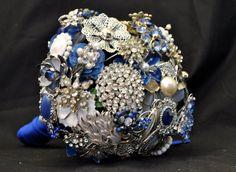 CUSTOM Wedding WINTER SILVER Vintage Brooch by LionsgateDesigns