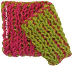 Tutorial: punto en dos colores (uno por cada lado!) tejido en el telar rectangular