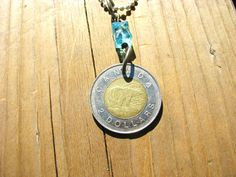 Canada Polar Bear 1996 Coin Necklace by BeadToLive on Etsy