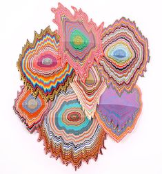 the hypnotic hand-cut paper sculptural works by jen stark create an infinite-like quality to her artwork. Jen Stark, Book Sculpture, Paper Sculptures, Origami, Paper Cutting, Cut Paper, Folded Book Art, Book Folding, Paper Artwork