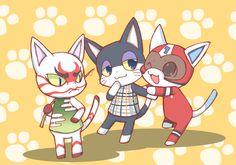 Kabuki, Punchy and Kid Cat♡