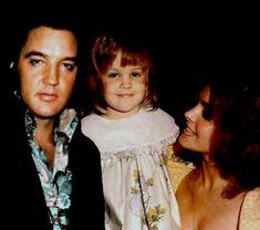 Elvis, Lisa Marie, and Priscilla Presley | Celebs | Pinterest