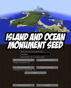 Large Island w/Ocean Monument. PC/Mac Seed:nonotice