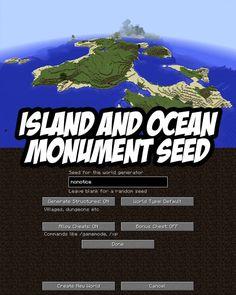 Large Island w/Ocean Monument. PC/Mac Seed:nonotice
