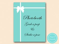 Photobooth sign grab a prop strike a pose sign by MagicalPrintable
