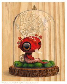 """Saturnine"" acrylic on wood -- SOLD"