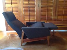 Gerald Easden for MODULE. Mid Century Easden Recliner. One Rare item of Furniture from my  Easden collection. Owned by Graeme Smith.