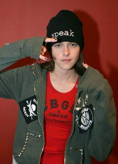 "Kristen Stewart cleverly promoting her movie ""Speak"". she portrays the character of Melinda Sordino in an adaptation of Laurie Halse Anderson book of the same name........"