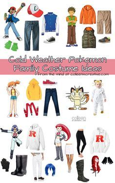 Pokemon Halloween costumes for COLD climates!