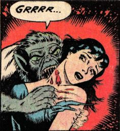 vintage horror retro werewolf pop art vintage horror Public Domain horror art horror comics horror Horror From the Tomb Vintage Comic Books, Vintage Comics, Comic Books Art, Vintage Art, Retro Horror, Vintage Horror, Arte Horror, Horror Art, Ligne Claire