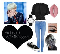 """""""BTS Imagine Outfit"""" by elissachwe on Polyvore featuring Paige Denim, T By Alexander Wang, Lime Crime and Vans"""